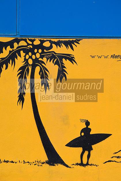 France/DOM/Martinique/ Le Vauclin: Enseigne de restaurant à la Pointe  Faula
