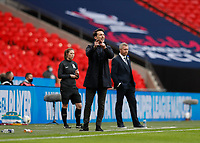 1st November 2020; Wembley Stadium, London, England; Womens FA Cup Final Football, Everton Womens versus Manchester City Womens; Manchester City Women Head Coach Gareth Taylor sends in instructions to his players from the touchline