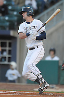 Northwest Arkansas Naturals Bubba Starling (6) swings during the game against the Springfield Cardinals at Arvest Ballpark on May 3, 2016 in Springdale, Arkansas.  Springfield won 5-1.  (Dennis Hubbard/Four Seam Images)
