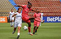 MEDELLIN - COLOMBIA, 08-08-2021: Deportivo Independiente Medellín y America de Cali en partido por la fecha 6 como parte de la Liga Femenina BetPlay DIMAYOR 2021 jugado en el estadio Atanasio Girardot de la ciudad de Medellín. / Deportivo Independiente Medellin and America de Cali in match for the date 6 as part of the BetPlay DIMAYOR women´s League 2021 played at Atanasio Girardot stadium in Medellin city. Photo: VizzorImage / Donaldo Zuluaga / Cont