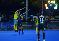Action from the Sentinel Homes Trans Tasman Series hockey match between the New Zealand Black Sticks Men and the Australian Kookaburras at Massey University Hockey Turf in Palmerston North, New Zealand on Tuesday, 1 June 2021. Photo: Dave Lintott / lintottphoto.co.nz