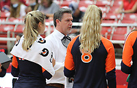 Brent Crouch head volleyball coach for Auburn on Sunday, Oct. 10, 2021, during play at Barnhill Arena, Fayetteville. Visit nwaonline.com/211011Daily/ for today's photo gallery.<br /> (Special to the NWA Democrat-Gazette/David Beach)