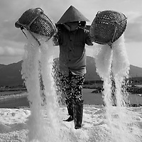 Salt fields - marais salins,<br />  Vietnam