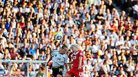 Kim Kulig (l) of Germany and Sophie Schmidt of Canada during the FIFA Women's World Cup at the FIFA Stadium in Berlin, Germany on June 26th, 2011.