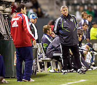 Seattle Sounders head coach Sigi Schmid and Chivas USA head coach Preki. Chivas USA defeated the Seattle Sounders 1-0 at Home Depot Center stadium in Carson, California on Saturday evening June 6, 2009.   .