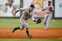 Montgomery Biscuits third baseman Jake Cronenworth (3) fields a ball in the game against the Chattanooga Lookouts on May 25, 2018 at AT&T Field in Chattanooga, Tennessee. (Andy Mitchell/Four Seam Images)