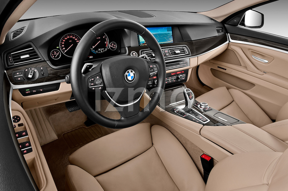 High angle dashboard view of a 2013 BMW 5 Series 530d Wagon