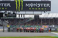29th August 2021; Silverstone Circuit, Silverstone, Northamptonshire, England; MotoGP British Grand Prix, Race Day; The start of the British Grand Prix