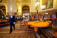 Roulette table in the Casino de Monte Carlo, Monte Carlo, Monaco, 21 March 2013