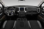 Stock photo of straight dashboard view of 2019 Chevrolet Silverado-1500 LT 4 Door Pick-up Dashboard