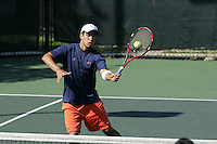 Virginia Cavalier women's and men's tennis playing at the University of Virginia in Charlottesville, VA. Photo/Andrew Shurtleff.