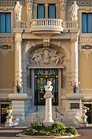 Exterior of the Salle Garnier with bust of Massenet, Opéra de Monte-Carlo, Monaco