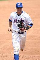 April 12, 2009:  Shortstop Reese Havens (5) of the St. Lucie Mets, Florida State League Class-A affiliate of the New York Mets, during a game at Tradition Field in St. Lucie, FL.  Photo by:  Mike Janes/Four Seam Images
