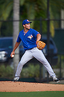 Toronto Blue Jays pitcher Tom Robson (77) during an instructional league game against the Philadelphia Phillies on October 3, 2015 at the Carpenter Complex in Clearwater, Florida.  (Mike Janes/Four Seam Images)