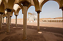Morocco - Ouarzazate - Remains of a movie set reproducing the Great Mosque of Mecca. The set, which is in the middle of the desert in the outskirts of Ouarzazate, was used for the shooting of Journey to Mecca, a 2009 movie on the famous Muslim scholar and traveler Ibn Battuta.