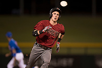 AZL Diamondbacks right fielder Kevin Watson Jr. (7) hustles to third base during an Arizona League game against the AZL Cubs 1 at Sloan Park on June 18, 2018 in Mesa, Arizona. AZL Diamondbacks defeated AZL Cubs 1 7-0. (Zachary Lucy/Four Seam Images)