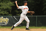 Pete Papcun makes a throw to first for an out during the Brick, New Jersey v Tampa, Florida game at the 2009 Cal Ripken World Series
