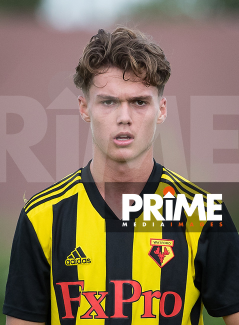 Harry Forster of Watford during the Professonal Development League match between Watford U23 and Sheffield United U23 at The Maurice Rebak Stadium, Summers Lane, England on 17 August 2018. Photo by Andy Rowland.