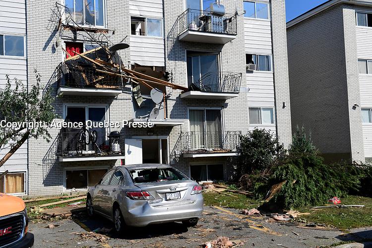 Tornade a Gatineau, le 14 septembre 2018<br /> <br /> PHOTO : Agence Quebec Presse
