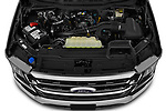 Car Stock 2021 Ford F-150 XLT 4 Door Pick-up Engine  high angle detail view