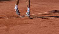 August 24, 2014, Netherlands, Amstelveen, De Kegel, National Veterans Championships, shoes on clay court<br /> <br /> Photo: Tennisimages/Henk Koster