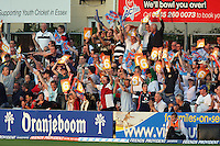 Essex fans celebrate 6 runs from Ryan ten Doeschate - Essex Eagles vs Kent Spitfires - Friends Provident Twenty 20 T20 Cricket at the Ford County Ground, Chelmsford -  02/06/10 - MANDATORY CREDIT: Gavin Ellis/TGSPHOTO - Self billing applies where appropriate - Tel: 0845 094 6026