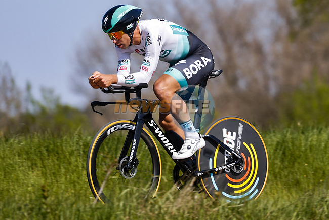 Peter Sagan (SVK) Bora-Hansgrohe in action during Stage 2 of the 100th edition of the Volta Ciclista a Catalunya 2021, an 18.5km Individual Time Trial around Banyoles, Spain. 23rd March 2021.   <br /> Picture: Bora-Hansgrohe/Luis Angel Gomez/BettiniPhoto | Cyclefile<br /> <br /> All photos usage must carry mandatory copyright credit (© Cyclefile | Bora-Hansgrohe/Luis Angel Gomez/BettiniPhoto)