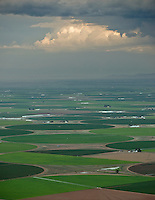San Luis Valley on stormy summer evening. July 2014. 86068