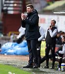13.12.2020 Dundee Utd v Rangers: Steven Gerrard applauding his side