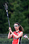 GER - Hannover, Germany, May 30: During the Women Lacrosse Playoffs 2015 match between DHC Hannover (black) and SC Frankfurt 1880 (red) on May 30, 2015 at Deutscher Hockey-Club Hannover e.V. in Hannover, Germany. Final score 23:3. (Photo by Dirk Markgraf / www.265-images.com) *** Local caption *** Jana Dejdar #11 of SC 1880 Frankfurt