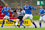 St Johnstone v Dunfermline... 13.08.11   SPL Week 4.Murray Davidson and Martin Hardie.Picture by Graeme Hart..Copyright Perthshire Picture Agency.Tel: 01738 623350  Mobile: 07990 594431