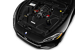 Car stock 2018 Maserati GranTurismo Automatic 2 Door Coupe engine high angle detail view