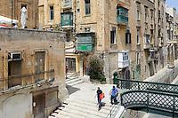 beim Victoria Gate in Valletta, Malta, Europa