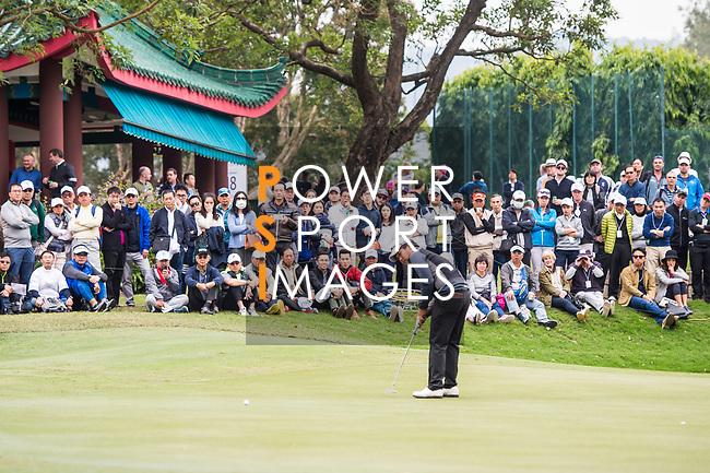 Poom Saksansin of Thailand plays a shot during the day three of UBS Hong Kong Open 2017 at the Hong Kong Golf Club on 25 November 2017, in Hong Kong, Hong Kong. Photo by Marcio Rodrigo Machado / Power Sport Images