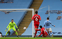 10th January 2021; Etihad Stadium, Manchester, Lancashire, England; English FA Cup Football, Manchester City versus Birmingham City; Mikel San Jose of Birmingham City tackles Phil Foden of Manchester City as he shoots at goal and the ball collected by keeper Prieto