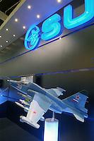 - stand of the Russian company Sukhoi, models of military aircraft....- stand della ditta russa Sukhoi, modelli di aerei militari