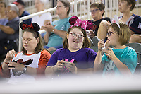 Fans showed up wearing their Minnie Mouse ears for Disney Night at the Kannapolis Intimidators game against the West Virginia Power at Kannapolis Intimidators Stadium on June 17, 2017 in Kannapolis, North Carolina.  The Power defeated the Intimidators 6-1.  (Brian Westerholt/Four Seam Images)