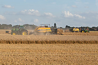 13-8-2021 Baling Wheat straw <br /> ©Tim Scrivener Photographer 07850 303986<br />      ....Covering Agriculture In The UK....