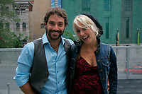 Montreal (Qc) CANADA - Augus 15, 2011  -Guillaume Lemay-Thivierge (L), Mariloup Wolfe (R)