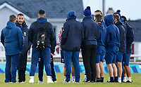 20th December 2020; The Sportsground, Galway, Connacht, Ireland; European Champions Cup Rugby, Connacht versus Bristol Bears; Bristol Bears, and former Connacht head coach Pat Lam speaks with his Bristol Bears players ahead of kick off