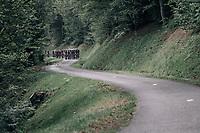 grupetto up the Mur de Péguère (Cat1/1375m/9.3km/7.9%)<br /> <br /> 104th Tour de France 2017<br /> Stage 13 - Saint-Girons › Foix (100km)