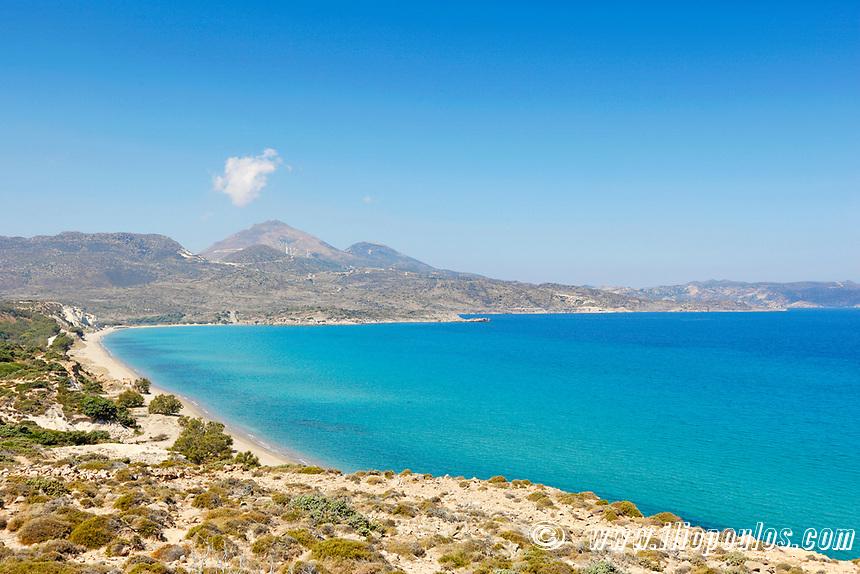 The beach Achivadolimni in Milos, Greece
