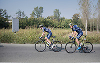 Adam Yates (GBR/Orica-Scott) & Robert Power (AUS/ORICA-Scott)<br /> <br /> 98th Milano - Torino 2017 (ITA) 186km