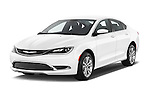 2015 Chrysler 200 Limited 4 Door Sedan 2WD Angular Front stock photos of front three quarter view