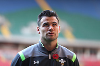 Monday 3 November 2014<br /> Pictured: Mike Phillips<br /> Re: WRU unveils new hybrid pitch at the Millennium Stadium, Cardiff.