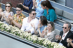Spanish actors Miguel Angel Silvestre and Ursula Corbero during Madrid Open Tennis 2015 Final match.May, 10, 2015.(ALTERPHOTOS/Acero)