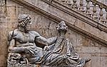 the Tiber river god in front of the Palazza Senatorio