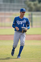 Kansas City Royals shortstop Jeison Guzman (1) during an Instructional League game against the San Francisco Giants at the Giants Training Complex on October 17, 2017 in Scottsdale, Arizona. (Zachary Lucy/Four Seam Images)