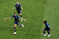 MOSCU - RUSIA, 15-07-2018: Kylian MBAPPE (#10) jugador de Francia celebra después de anotar el cuarto gol de su equipo a Croacia durante partido por la final de la Copa Mundial de la FIFA Rusia 2018 jugado en el estadio Luzhnikí en Moscú, Rusia. / Kylian MBAPPE (#10) player of France celebrates after scoring the fouth goal of  his team to Croatia during match of the final for the FIFA World Cup Russia 2018 played at Luzhniki Stadium in Moscow, Russia. Photo: VizzorImage / Cristian Alvarez / Cont