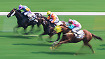 (From left) Horse Laughing Lord ridden by Joao Moreira, horse Rock The Tree ridden by Matthew Chadwick and horse Ambitious Speedy ridden by Nash Rawiller compete  during the race 4 of HKJC Horse Racing 2017-18 at the Sha Tin Racecourse on 16 September 2017 in Hong Kong, China. Photo by Victor Fraile / Power Sport Images